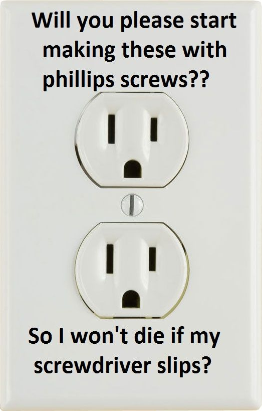 correct outlet screws